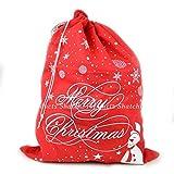 5x Christmas Santa Sack Rot Filz Weihnachts Santa Zubehör Schneemann Schneeflocke Bedruckt