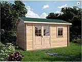 Mondocasette Casa Gartenhaus aus Holz – Modell Ula Wandstärke 45 mm 450 x 250 cm, Chalet Bungalow