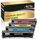 Arcon 4 Packs Kompatibel für HP 131A 131X für HP Laserjet Pro MFP M251N M251NW M276N M276NW für HP131X CF210A CF210X CF211A CF212A CF213A MF8280CW MF8230Cn LBP7100Cn LBP7110Cw Color Printer Toner