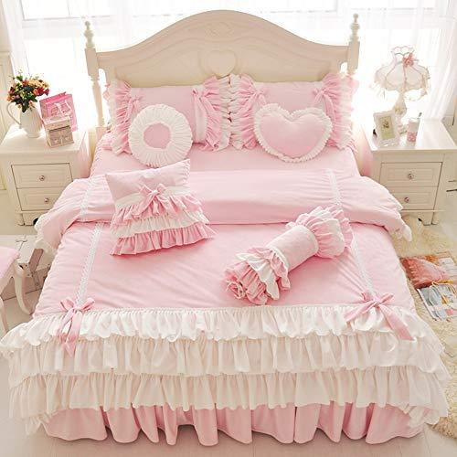 dfsgrfvf Bettwäsche-Set Mädchen Rosa Blau Lila Bettwäscheset Twin Queen King Size Bettwäscheset Bettbezug Bettwäscheset Pillowcase-in Bettwäsche-Sets