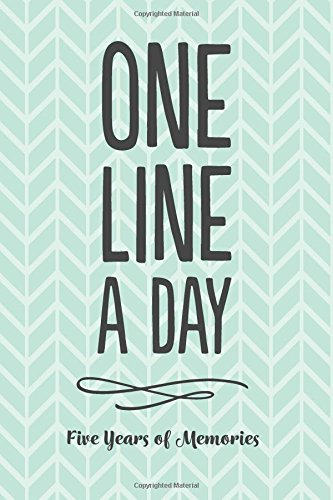 one-line-a-day-journal-five-years-of-memories-6x9-diary-dated-and-lined-book-green-pattern