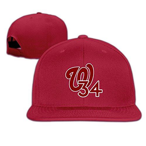 JAX D Unisex Harper Super Baseball Stummschalttaste Snapback HipHop Hüte schwarz, unisex, rot