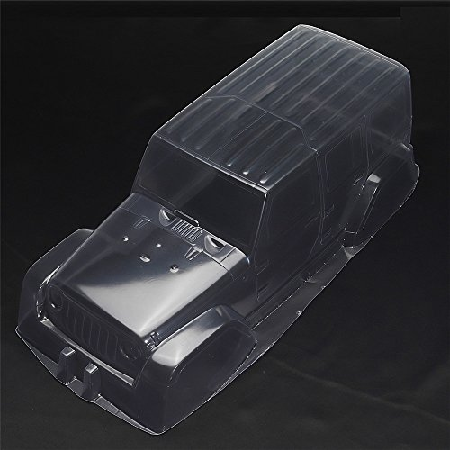 LaDicha 1/10 PVC RC carrosserie Voiture Shell pour axial 90027 90028 90035 90022 SCX10 Crawler - Transparence
