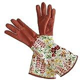 NANAD Rosen-Gartenhandschuhe für Frauen, Dornfeste Rosen-Handschuhe mit extra langem Unterarmschutz & Druckmanschette Rosen-Gartenhandschuhe für BlackBerry Pflanzen Rosenstrauch, 1#, Free Size