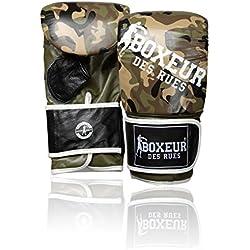 Boxeur Des Rues - Guantes de boxeo en piel, serie Fight Activewear, Hombre, Fight Activewear, Camuflaje, M
