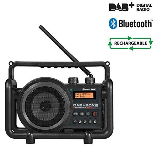 Perfectpro DAB+ Radio DAB+ Box 2 Schwarz Tragbares Radio