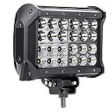 SAILUN 72W Arbeitsleuchte LED Offroad Flutlicht Vier Reihen Zusatz Scheinwerfer Auto Beleuchtung Arbeitsscheinwerfer Nebelscheinwerfer für Jeep PKW 4WD SUV ATV Boot