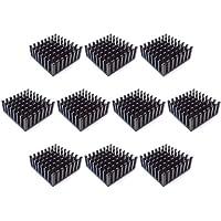 Easycarga 10pcs 25mm Aluminio Disipador de calor 25x25x10mm + Pre aplicación 3M 8810 Termo Conductivo Cinta Adhesiva para refrigeración GPU Chips VRAM VGA RAM (25mmx25mmx10mm)