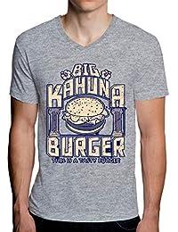 Big Kahuna Burger Camiseta con Cuello de Pico para Hombre