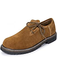PAULGOS Trachtenschuhe Echt Leder Haferlschuhe Haferl Trachten Schuhe in 3 Farben Gr. 39-47