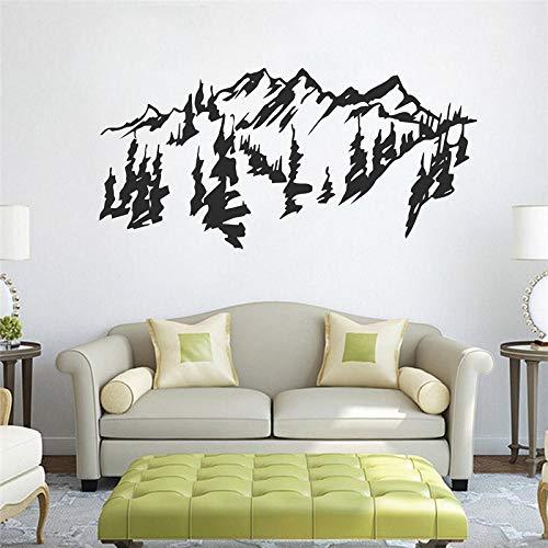 100x50cm Chinesischer Stil Mountains Wand Art Aufkleber abnehmbar traditionelle chinesische Malerei Vinyl Wandsticker -