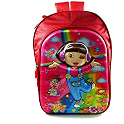 Disney princess Dora 5D embossed waterproof school bag pink/multicolor eh419