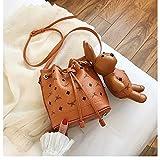 Mrs. Li's shop Eimer Tasche weibliche kleine Tasche 2019 einfach lässig niedlichen Kaninchen Umhängetasche Messenger Bag weiblichen Sommer, gelb