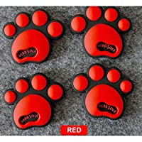 2 Pair Cool Design Paw Car Sticker 3D Animal Dog Cat Bear Foot Prints Footprint 3M Decal Car Stickers