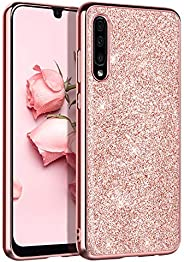 Samsung A50 Case, DOMAVER Samsung Galaxy A50 Case with Sparkly Trendy A50 Phone Case Cover Slim Rose Gold Glit