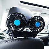suparee coche eléctrico ventilador 12V Velocidad Cambio verano aire de refrigeración termostato para asiento trasero de pasajeros/bebé/mascotas
