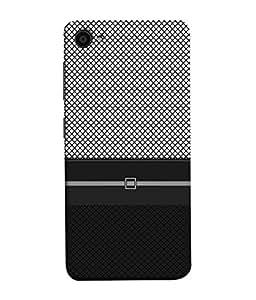 PrintVisa Designer Back Case Cover for Lenovo ZUK Z2 :: Lenovo ZUK Z2 Plus (Pattern Checks Black Grey Diamonds)