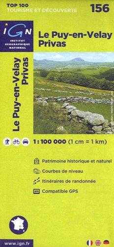 Top100156 le-Puy-en-Velay/Privas 1/100.000