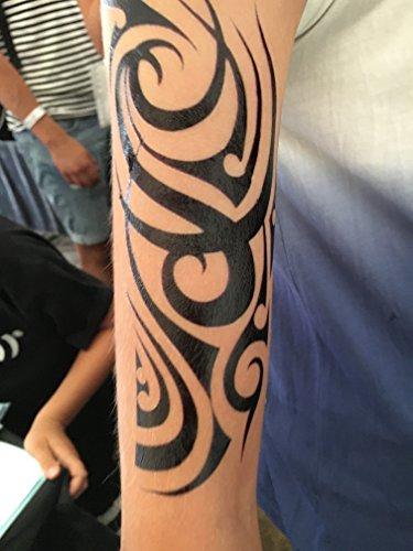 MÄNNER TRIBAL TATTOO SCHWARZ Temporär Arm Oberarm Tattoo Aufkleber WX144