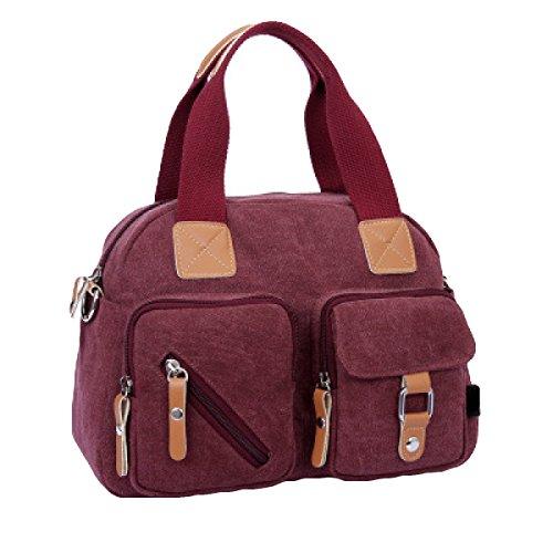 Retro Frauen Handtaschen Frauen Modische Leinentasche Messenger Bag Purple