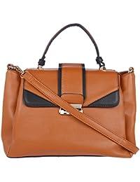 Fur Jaden Tan Spacious Handbag For Women
