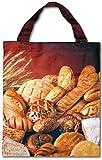 Bestlivings Einkaufstasche, Auswahl: Fotodruck-Mikrofaser Brot
