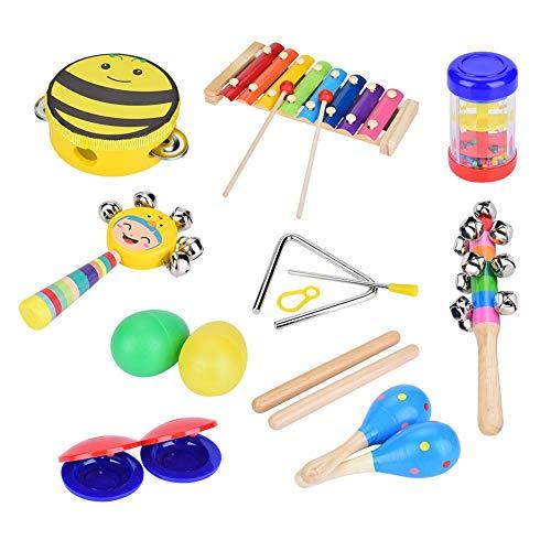 Instrumentos de percusión para niños pequeños, 16 Piezas para niños Educación Infantil...