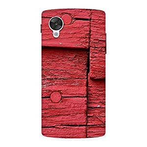 Delighted Red Kil Wood Back Case Cover for Google Nexsus 5