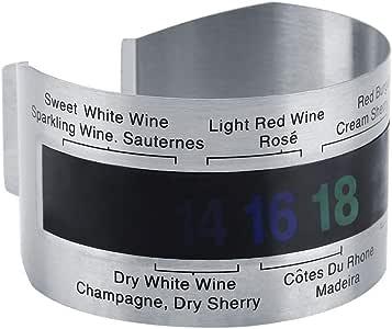 Edelstahl Wein LCD Thermometer Flasche Bier Rotwein Armband Temperatursensor