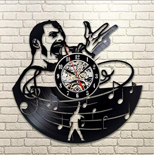 29924d02b6a Qwerlp Vintage Vinyl Record Wall Clock Modern Design For Living Room Music  Theme Clocks Wall Watch