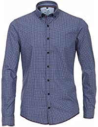 Venti Casual Hemd Slim Fit Karo blau Button-Down