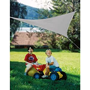 Windhager voile d'ombrage sunSail 'aDRIA', 158 g/m², 3,6 x 3,6 x triangle 3,6 m, gris