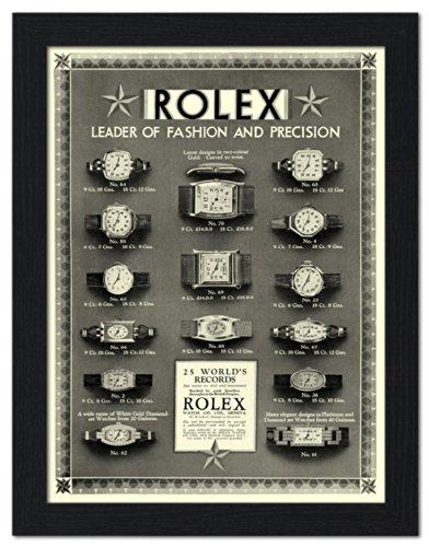 rolex-watches-vintage-advertisement-1920s-framed-print-32x42cm-black