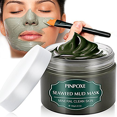 Blackhead Remover Maske, Mitesser Maske, Anti Aging Mask, Gesichtsmaske mit Algen, gegen unreine Haut, Akne, fettige Haut& Mitesser, Natural Gesicht & Körper Maske, 120g/4.23 fl.oz
