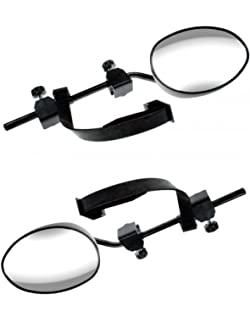 Skoda Octavia Caravan Trailer Extension Towing Dual Mirror Glass Convex Pair