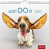 Just do it 2017: Dekorativer Wandkalender mit Monatskalendarium (Happy Days)
