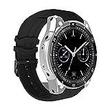Jweal Sport-Smartwatch, IPS-Touchscreen, GPS-Positionierung, MTK6580 Smart-Watch, unterstützt Informationen Push, Bluetooth-Anrufe, genaue GPS-Positionierung, Navigation, kompatibel mit iOS Android, silber