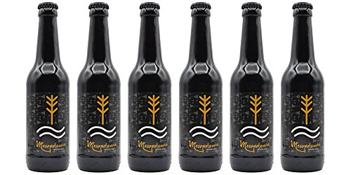 MESOPOTAMIA Imperial Stout - caja 6 bot 33 cl. - Cerveza Artesana elaborada 100% con malta de Cebada. La mejor cerveza negra de Aribayos.
