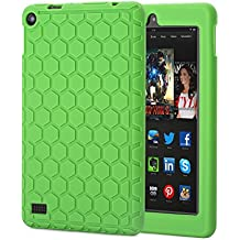 Fire 7 2015 Funda, Hanlesi Silicona [Kids Friendly] Peso Ligero Protector Caso para Amazon Fire 7 Tablet (5th Generation - 2015 Release Only)