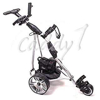 Elektro Golf Trolley CADDYONE 400 silber, 300W, 33Ah-Akku