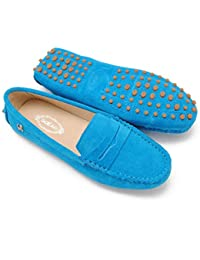 Meijili - plataforma mujer , color Azul, talla 36.5