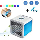 Nifogo Arctic Air Luftkühler, Mini Klimaanlage, Mobile Klimagerät Ventilator, Air Cooler USB Air Conditioner 3 in 1 Raumluftkühler, Luftbefeuchter und Luftreiniger Tragbarer Tischventilator für Büro,Hotel,Garage und Haus
