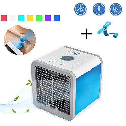Nifogo Arctic Air Luftkühler, Mini Klimaanlage, Mobile Klimagerät Ventilator, Air Cooler USB Air Conditioner 3 in 1 Raumluftkühler, Luftbefeuchter und Luftreiniger Tragbarer Tischventilator für Büro,Hotel,Garage und Haus