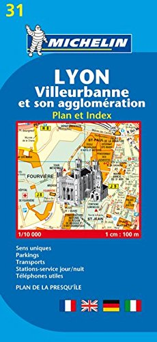 Lyon : Villeurbanne et son agglomération - Plan et index