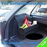 Filz Kofferraumtasche Werkzeugtasche mit Klett 48 x 15,5 x 25,5 cm NEU (Schwarz)