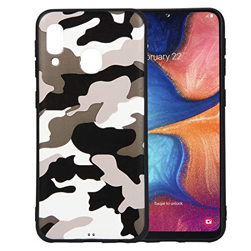 Yutwo Hülle Kompatibel mit Samsung Galaxy A20E, Wasserdicht Stoßfest Outdoor Handy Case [Tarnung Design] Camouflage-Handyhülle Silikon Handyhülle TPU Bumper Cover Schutzhülle - A#Weiß Handy-camouflage-design