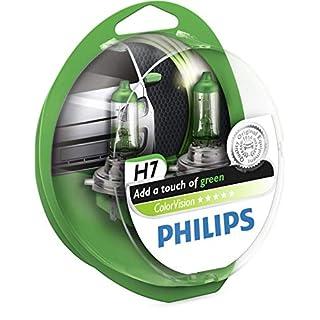 Philips 12972CVPGS2 Fahrzeuglampe ColorVision H7, Grün, 2 Stück