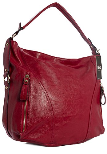 Handbag Donna Borse Big Spalla Shop rosso A