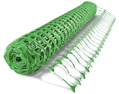 UvV ES-Team Warnnetz grün Schutznetz Fangnetz Auffangnetz Fangzaun Bauzaun Wildzaun 50 m Rolle, 1 Meter hoch