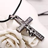 #4: Anime Death Note Cross L Logo Metal Necklace Locket Pendant Cosplay Accessories